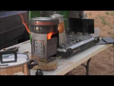 Coleman Camp Stove VS Folding Firebox Campfire Stove (Wood VS Propane) Boil Test