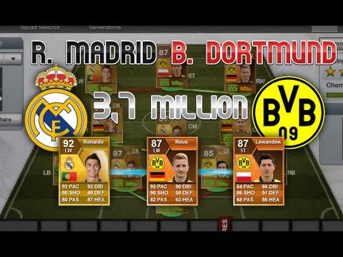 FIFA 13 - Ultimate Team - Real Madrid/Borrusia Dortmund Squad (Champions league 2013)