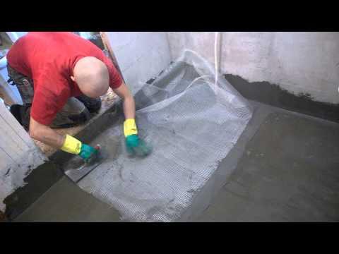 Ремонт ванной комнаты пола своими руками видео 171