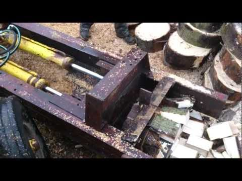 HOMEMADE HIGH OUTPUT LOG SPLITTER