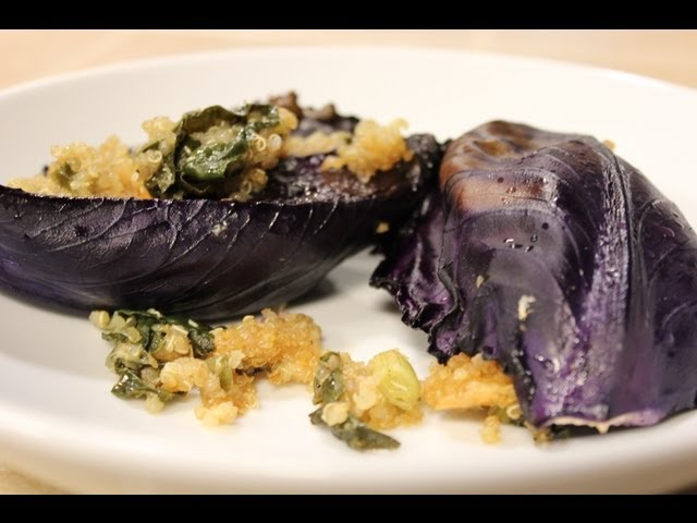 Red Cabbage Wraps (Baked) - Blythe Raw Live