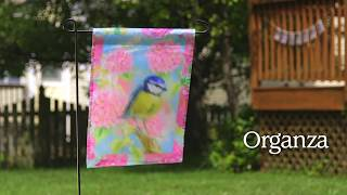 Organza Multi-layered Garden Flags for Spring & Summer from Evergreen