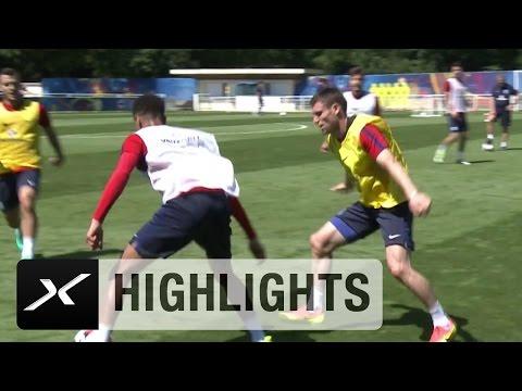 Tunnel im Training! Delle Alli macht Jack Wilshere nass | England - Island | EM 2016