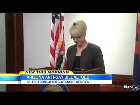 Arizona governor Jan Brewer vetoes controversial anti-gay, 'religious freedom' Republican bill