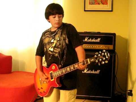 To Zeibekiko Tis Evdokias (ηλεκτρικη κιθαρα) - (10 Year Old Stefanos)