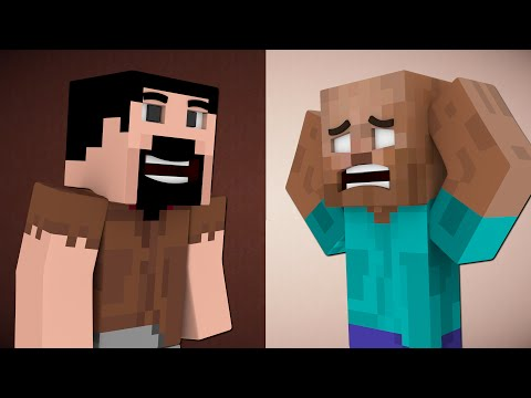If Herobrine Was Bald And Notch Grew Hair - Minecraft