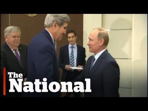 John Kerry meets with Vladimir Putin