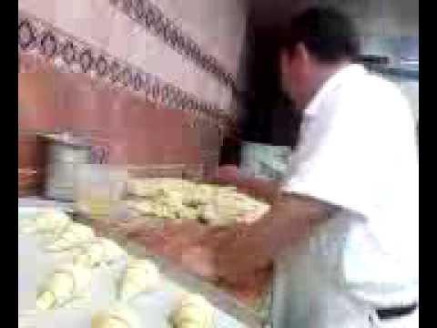 Haciendo pan...