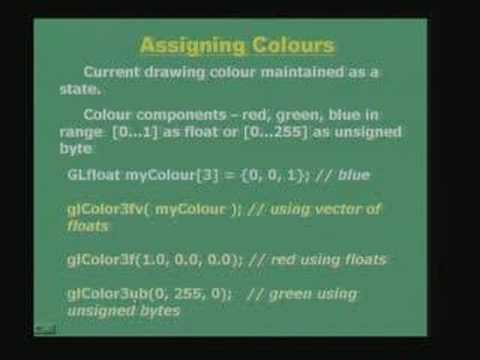 Lecture - 40 Graphics Programming Using OpenGL