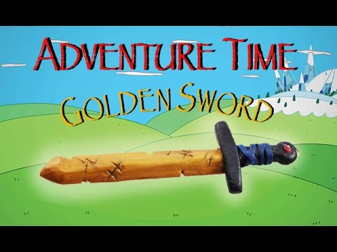 Finn's Golden Sword   Adventure Time Polymer Clay Tutorial