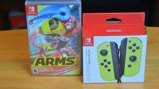 Nintendo Switch ARMS / Neon Yellow Joy-Con Unboxing