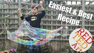 DIY Bubble Recipe & Giant Wands How To   so easy