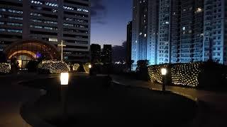 SM Aura skypark at night