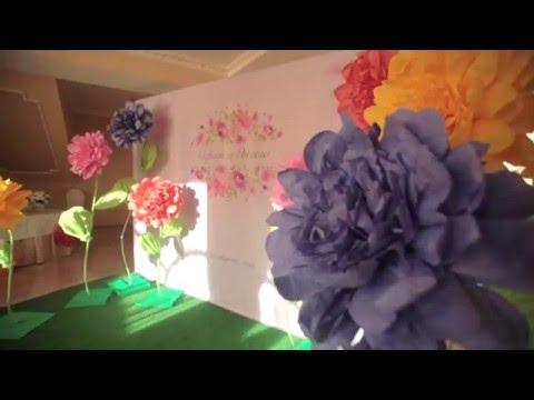 Как сделать ножку для гигантского цветка из бумаги