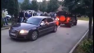 Audi A8 4.2 TDI vs Land Rover Deffender - Tug of War