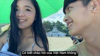 """Dạy gái Nhật nói tiếng Việt """" em yêu anh"""" và rồi cười không nhặt được mồm..."""