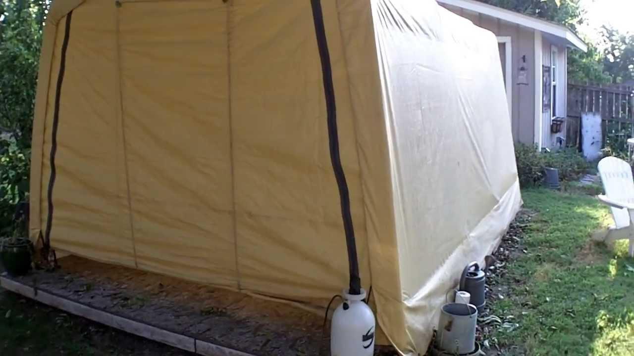 2Yr Update- Harbor Freight 10X15 Portable Garage Shelter ...