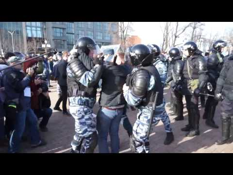 Задержания на Пушкинской площади 26 марта