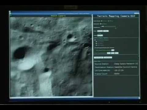 India's chandrayaan moon flyby video