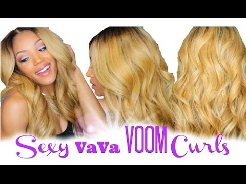 Sexy VaVa Voom Curls Tutorial + (Blending Closure)