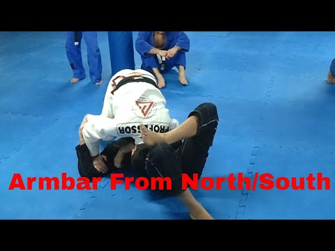 Armbar from North/South with pressure - Emerson Souza - Long Island Brazilian Jiu Jitsu and MMA Image 1
