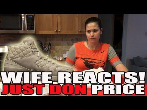 Wife's Reaction To Price Of Just Don x Air Jordan 2 Beach Box Set!