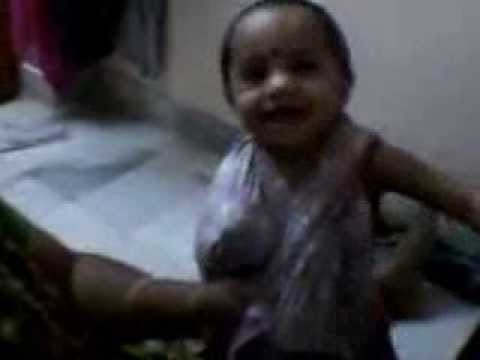 Cute Indian Baby Girl Feeding Milk With Her Mother video