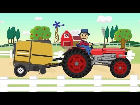 ☻ Farmer Farm Work | Straw - Bajki Traktorek - Prace Rolnika ☻