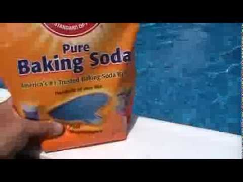 how to keep swimming pool water crystal clear using baking soda for ph level youtube. Black Bedroom Furniture Sets. Home Design Ideas