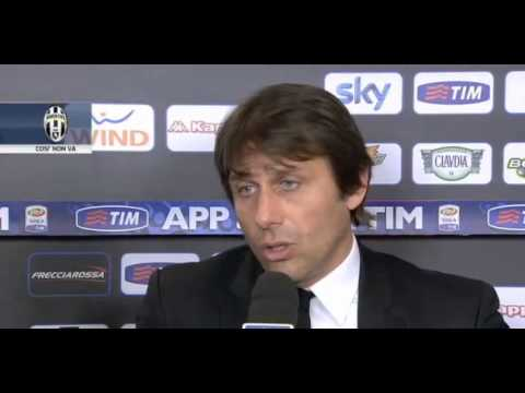 Intervista Antonio Conte post Roma Juventus 1-0