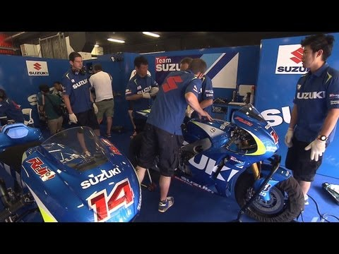 The first laps of Suzuki's new MotoGP bike at Catalunya