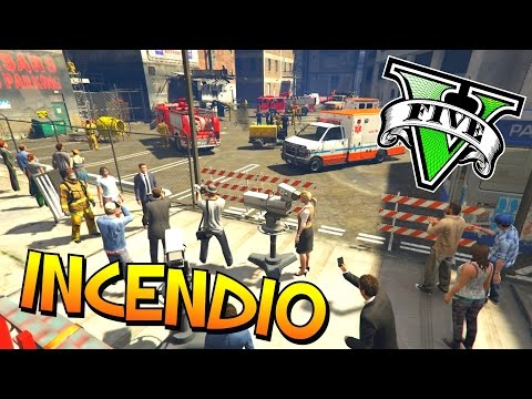 EDIFICIO EN LLAMAS!! - Funny Moments GTA 5 Mod - Tramcaman