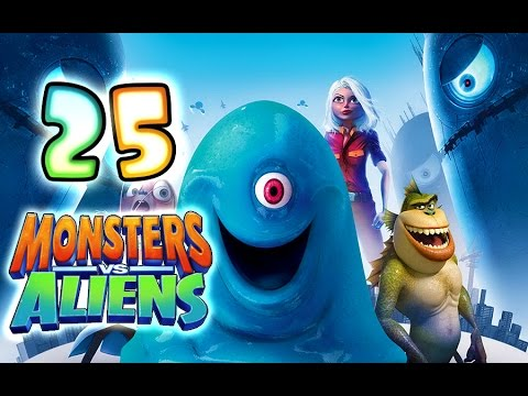 Monsters VS Aliens Walkthrough Part 25 (PS3. X360. Wii. PS2) ~ Ginormica Level 25 *Ending*