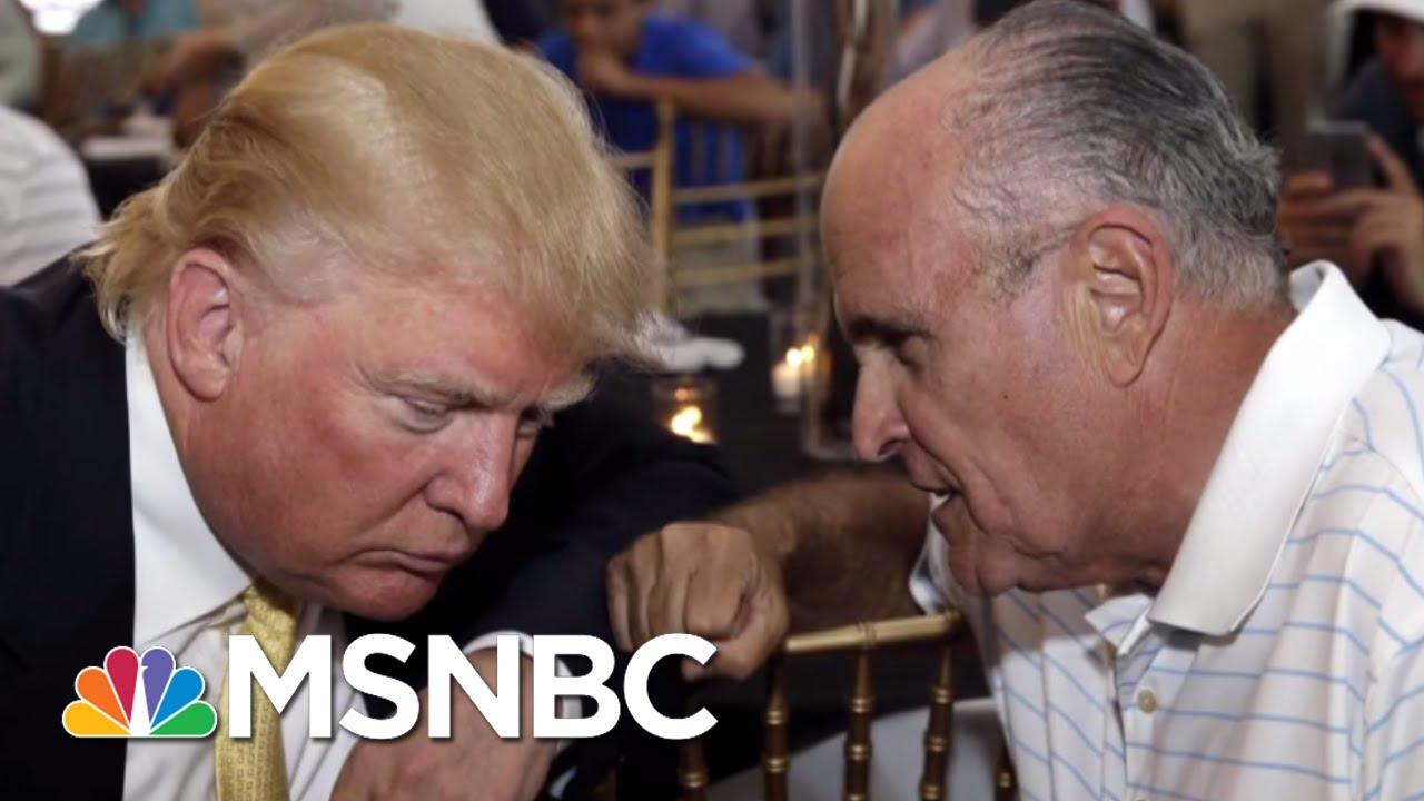 Rudy Giuliani Reveals President Donald Trump Repaid $130,000 To Michael Cohen | MSNBC