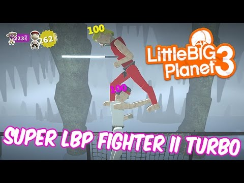 Super LBP Fighter II Turbo [Community Levels] Little BIG Planet 3 (PS4 Father & Son Gameplay)