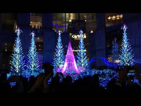 Special Cinderella Christmas Lights at Caretta Shiodome in Tokyo, Japan