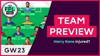 FPL TEAM SELECTION: GW23 | Harry Kane INJURED! Gameweek 23 | Fantasy Premier League 2018/19