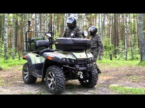Военный снегоход и квадроцикл