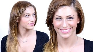 Easy Side Braided Bangs Tutorial