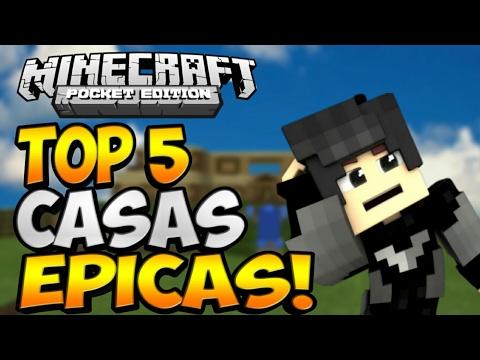 Top 5 Casas Epicas Para Tu Minecraft Pe 1.0.8 / 1.1