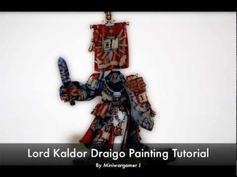 Warhammer 40k Painting Tutorial - How to Paint Grey Knights Lord Kaldor Draigo part 1