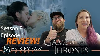 """Game of Thrones 8x1 REACTION and REVIEW 