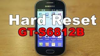 Hard Reset no celular da Samsung GT-S6812B