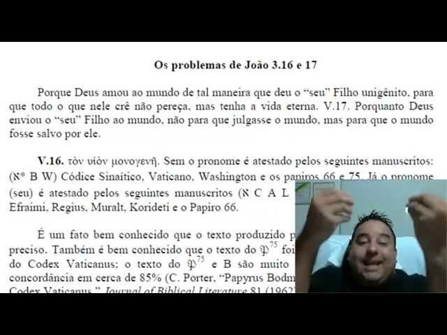 A manipulação de João 3:16! Professor Fabio Sabino
