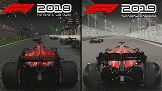 F1 2019 vs F1 2018 | Direct Comparison