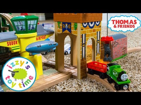 Thomas and Friends | Bubs Builds A Thomas Track with Castle Crane! Fun Toy Trains for Kids & Brio
