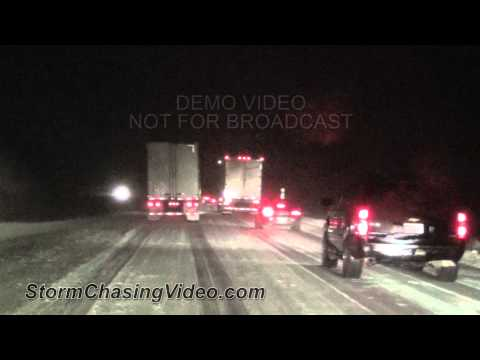 3/10/2013 Ames, IA to Fort Dodge, IA Interstate 35 Winter Storm Wrecks