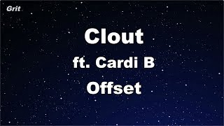 Clout ft. Cardi B - Offset Karaoke 【No Guide Melody】 Instrumental