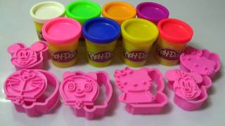 Đất Sét Play Doh-Hướng dẫn bé nặn đất sét Doremon , Doremi, Chuột Mickey -Play Doh Colours To Kids