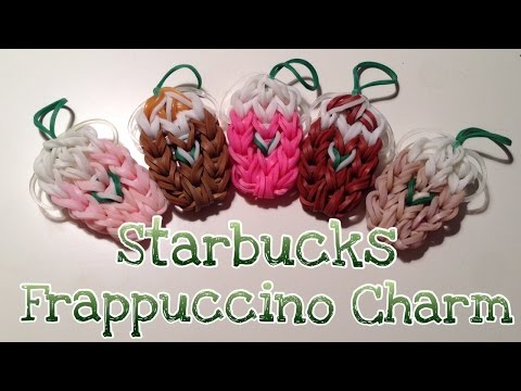 Rainbow Loom Starbucks Iced Coffee Strawberry Frappuccino Frappe Charm